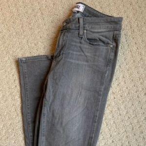 PAIGE VERDUGO ULTRA SKINNY Women's gray jeans, Siz